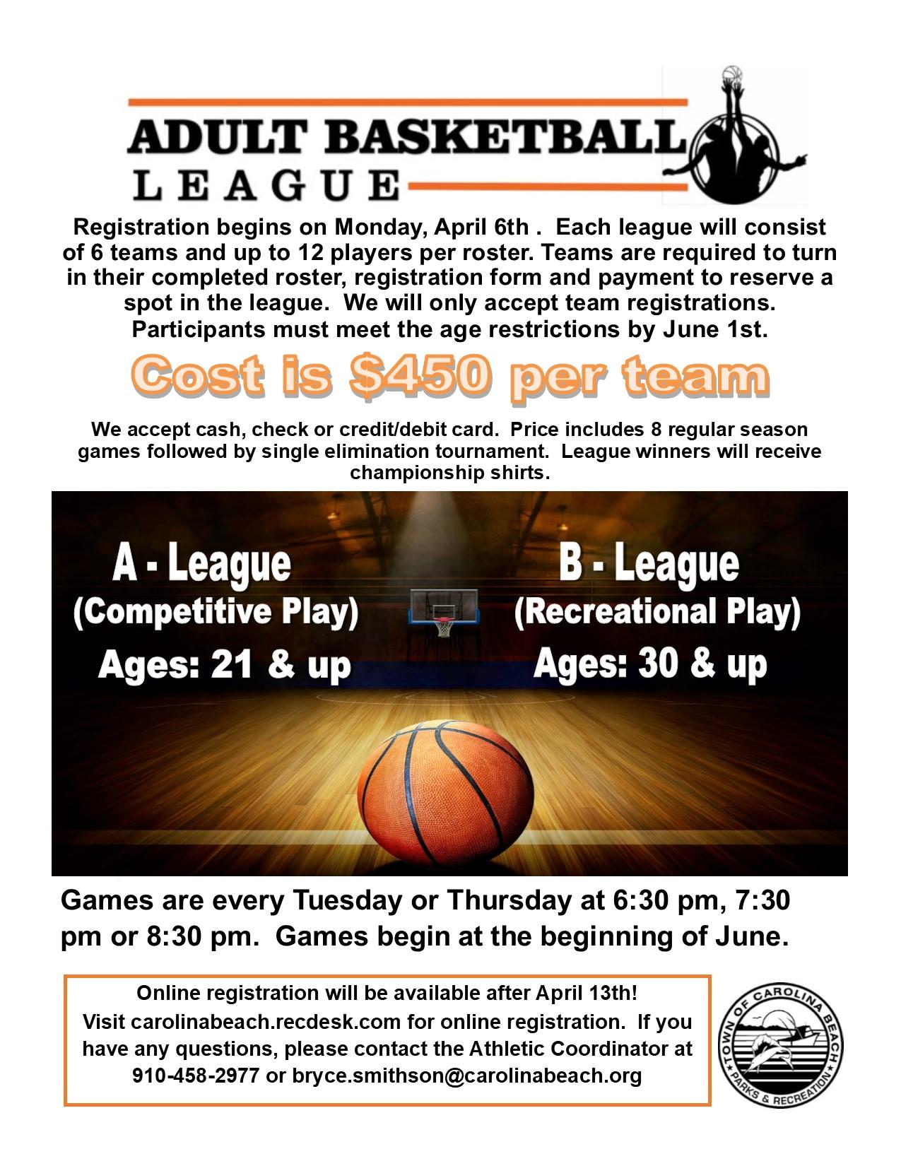 Adult League Flyer