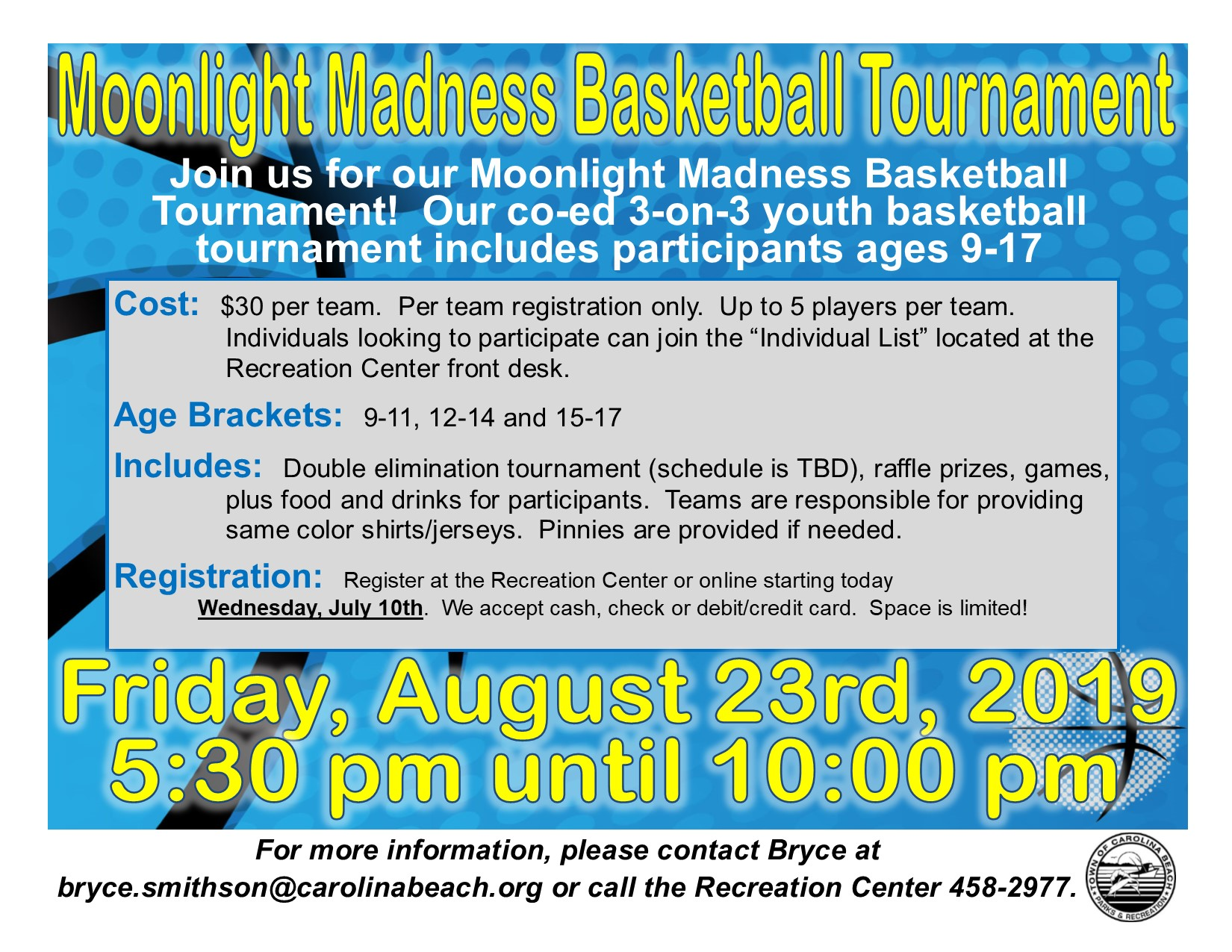 Moonlight Madness Flyer 2019