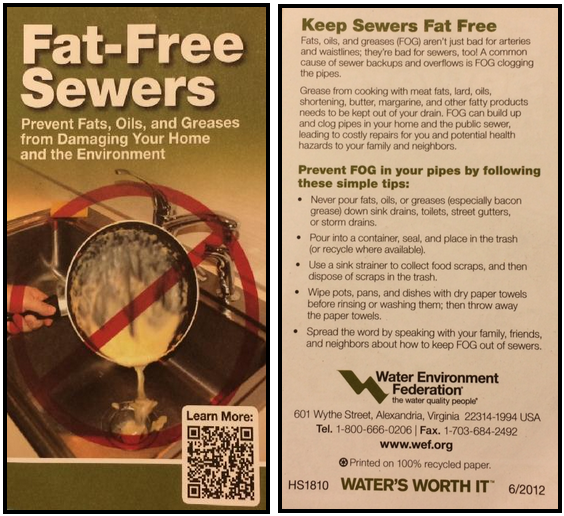 Keep Sewers Fat Free