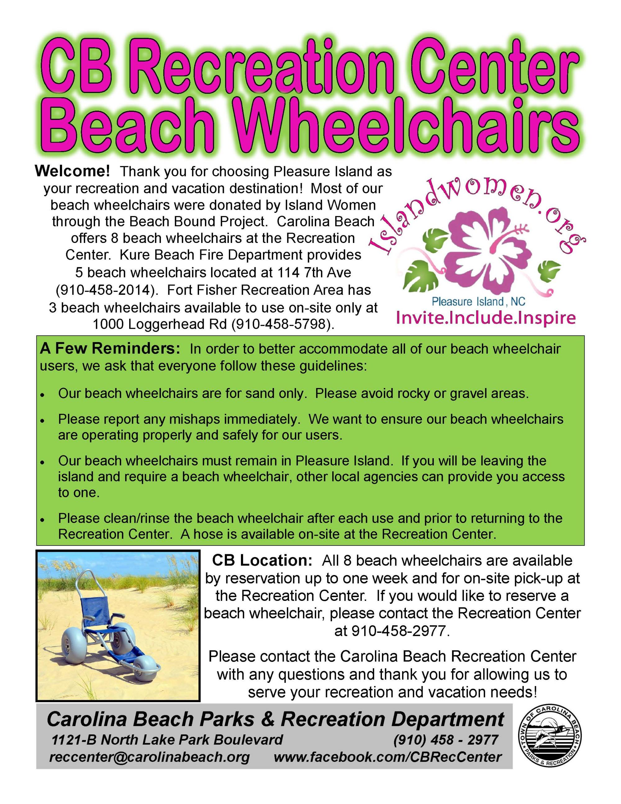 Beach Wheelchair Staples Postcard 5-10-19