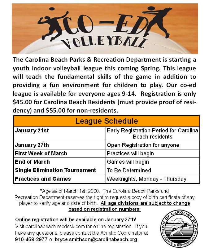 Youth Volleyball Flyer 2020
